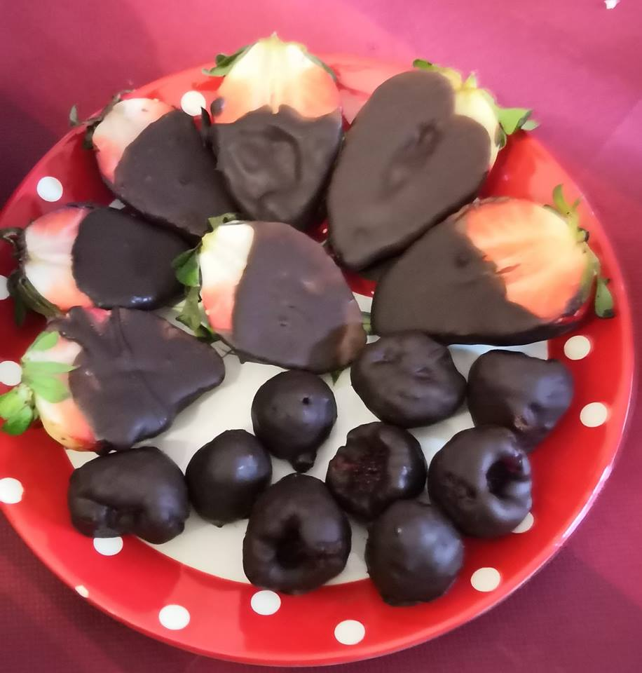 fresas con cacao