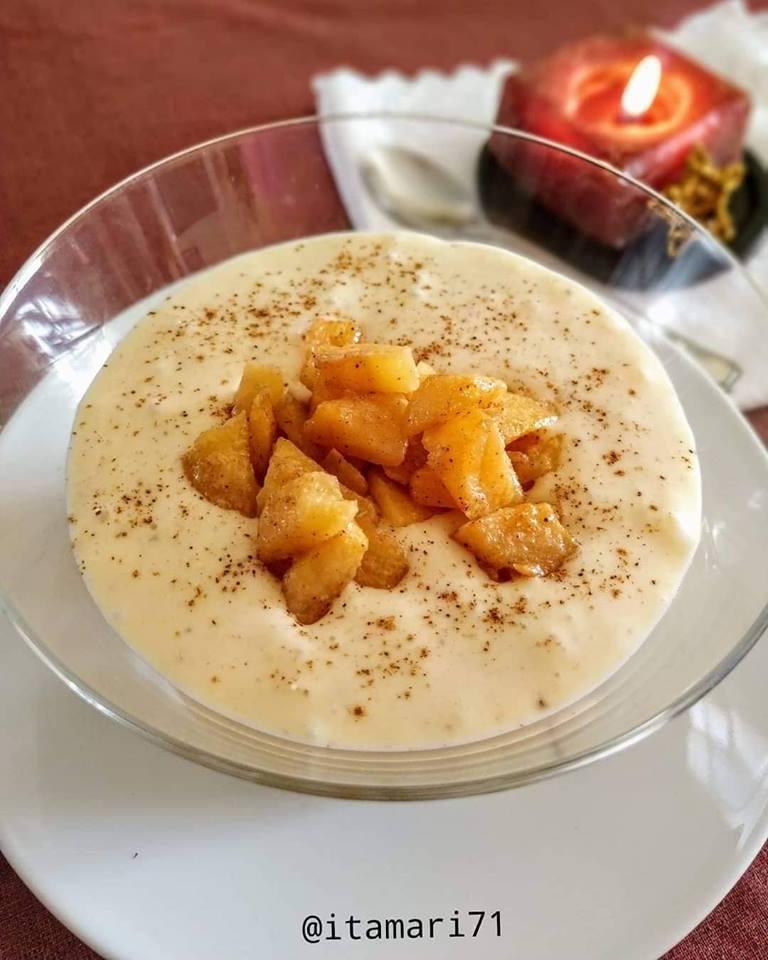 crema de mango platano y caqui