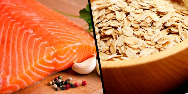 salmon y avena son proteina e hidrato